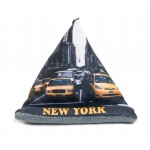 Yellow Taxi Cab New York Phone Pillow Stand