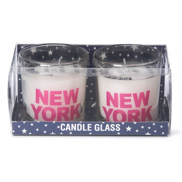 Pink New York 2 Sets Candles