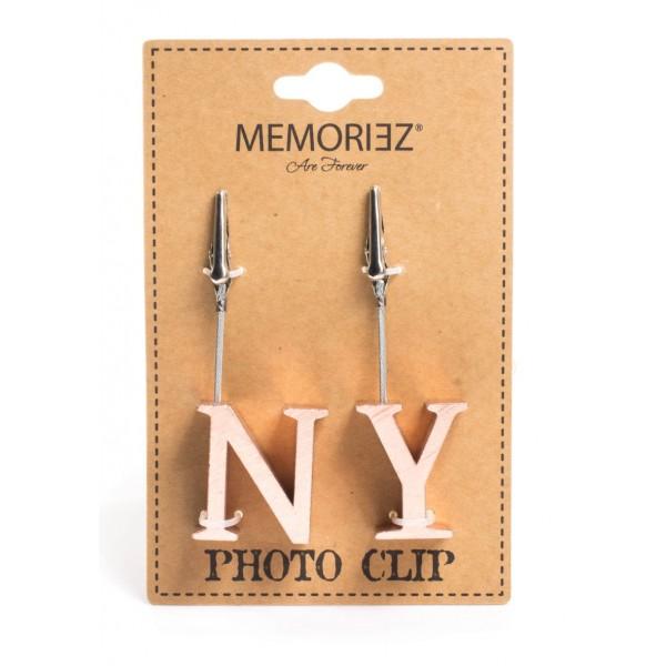 Copper NY Block Letter Copper Photo Clip Holder