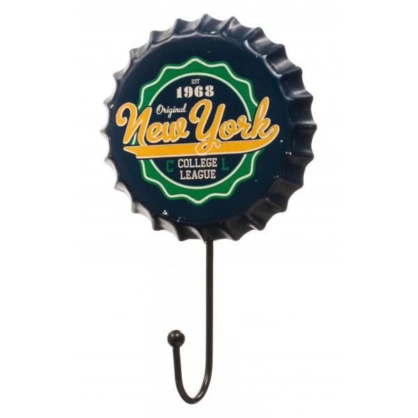 Green & Yellow Retro New York Beer Cap Hanger