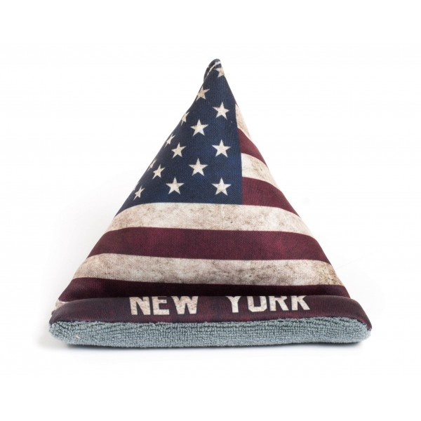 American Flag NY Phone Pillow Stand
